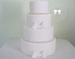 Bolo Casamento com p�rolas