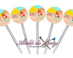 Toppers para Cupcake - Pequena Sereia