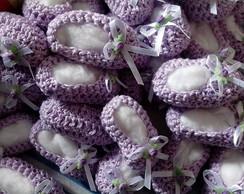 Sach� Sapatinhos de Croch�