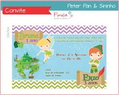 Convite Digital Peter Pan e Sininho