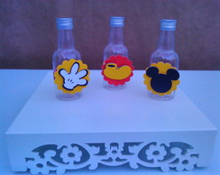 Garrafinha decorada - Tema Mickey