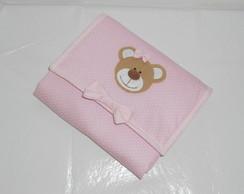 Trocador ursinha rosa