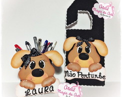 Kit Dog Porta L�pis e Plaquinha