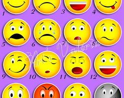 Plaquinha para foto - Emotions Redondos