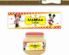 R�tulo Papinha Mickey e Minnie