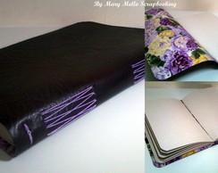 Caderno de Anota��o com Capa de Couro