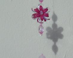 Pingente de cortina Flores e Borboletas