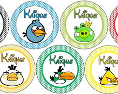 Tags para toppers do Angry Birds