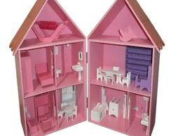 Casa mobiliada para bonecas estilo Polly