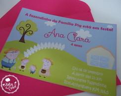 Convite Peppa Pig na Fazenda