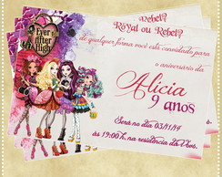 Convite Ever After High 10x15cm