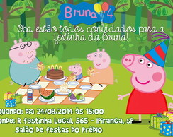 Convite Virtual Peppa Pig Piquenique