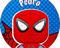 Topper redondo Homem Aranha 3,5 cm