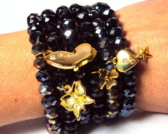 Pulseira Mixed Cristal Black