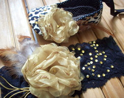 kit sapatilha e faixa de cabelo oncinha
