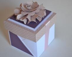 Caixa cupcake com flor