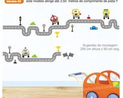 Adesivo Pista Carros Infantil Mod.3