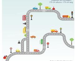 Adesivo Pista Carros Infantil Mod.5