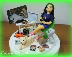Topo de bolo - 15 anos da Bettina