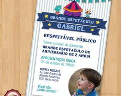 Convite de anivers�rio CIRCO