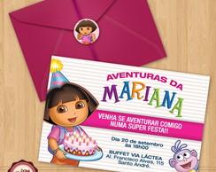 Convite de anivers�rio DORA AVENTUREIRA