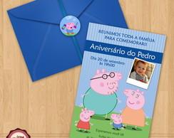 Convite de anivers�rio PEPPA PIG 2