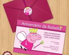 Convite de anivers�rio PEPPA PIG 3
