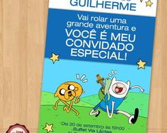 Convite HORA DE AVENTURA