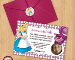 Convite de anivers�rio ALICE 2