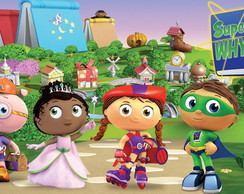 Banner de lona Super Why Enorme