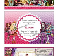 Convite 7cm x 10cm Ever After high (35)
