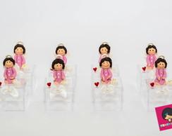 Caixa Acr�lica Mini Anjo da Guarda Rosa