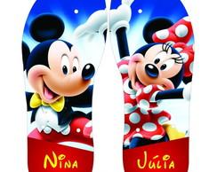 Chinelo Mickey e Minie Patinando