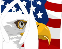 Chinelo Personalizado USA Eagle
