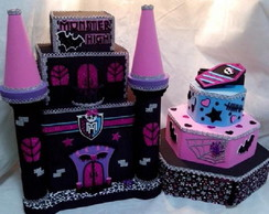 Monster High - Kit Castelo e Bolo em EVA