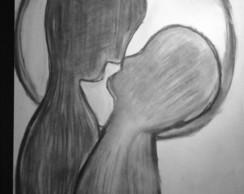 """Desenho em Carv�o """"Fus�o"""""""