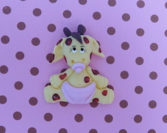 Aplique girafinha de fralda