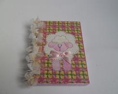 Caderneta decorada : Ovelhinha