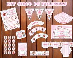 Kit Festa Circo Bolinhas Baby Luxo