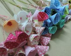 Flores em tecido - pronta entrega