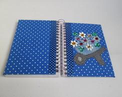 Caderneta decorada : Carrinho de flores