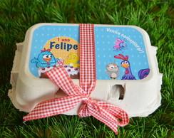 Convite Galinha Pintadinha caixa de ovo