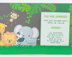 Convite Scrapbook Safari