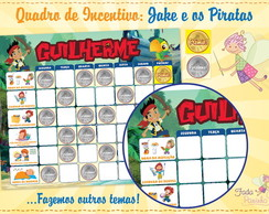 Quadro Incentivo Jake e os Piratas