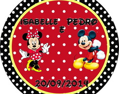 R�tulo Latinha Minnie e Mickey
