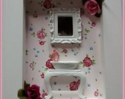 Mini Quadrinho Lavabo Pia - Floral