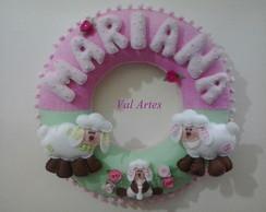 Porta maternidade - Ovelhinhas