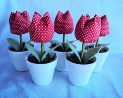 Lembrancinha vasinho com tulipa