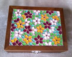 Caixa de Costura Flores Coloridas
