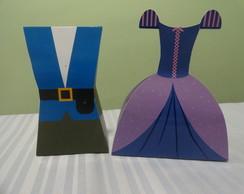 Caixa Vestido e Uniforme - Rapunzel/Jos�